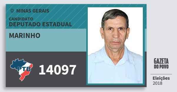 Santinho Marinho 14097 (PTB) Deputado Estadual | Minas Gerais | Eleições 2018