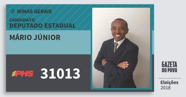 Santinho Mário Júnior 31013 (PHS) Deputado Estadual | Minas Gerais | Eleições 2018