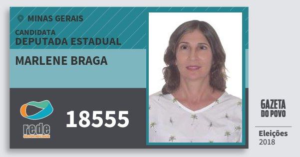 Santinho Marlene Braga 18555 (REDE) Deputada Estadual | Minas Gerais | Eleições 2018