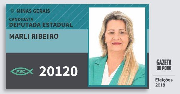 Santinho Marli Ribeiro 20120 (PSC) Deputada Estadual | Minas Gerais | Eleições 2018