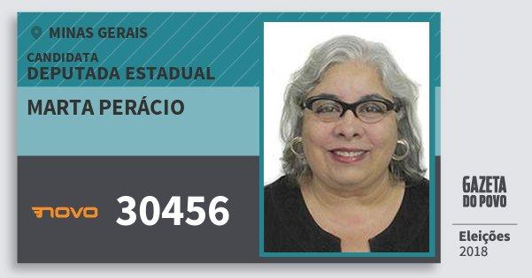 Santinho Marta Perácio 30456 (NOVO) Deputada Estadual | Minas Gerais | Eleições 2018
