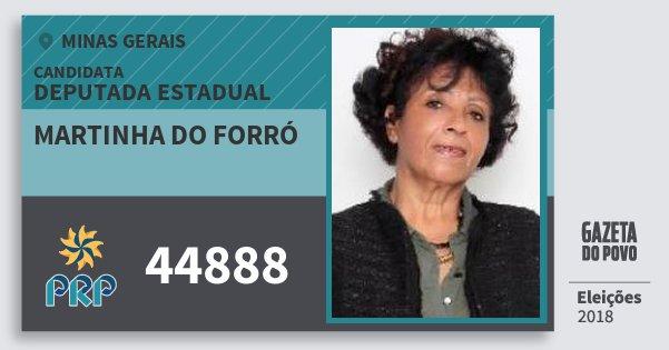 Santinho Martinha do Forró 44888 (PRP) Deputada Estadual | Minas Gerais | Eleições 2018