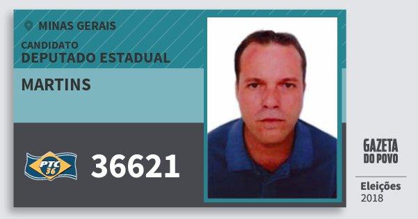 Santinho Martins 36621 (PTC) Deputado Estadual | Minas Gerais | Eleições 2018