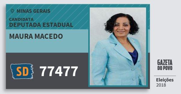 Santinho Maura Macedo 77477 (SOLIDARIEDADE) Deputada Estadual | Minas Gerais | Eleições 2018