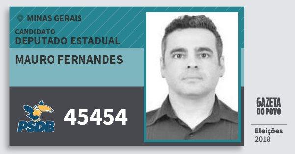 Santinho Mauro Fernandes 45454 (PSDB) Deputado Estadual | Minas Gerais | Eleições 2018