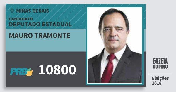 Santinho Mauro Tramonte 10800 (PRB) Deputado Estadual   Minas Gerais   Eleições 2018