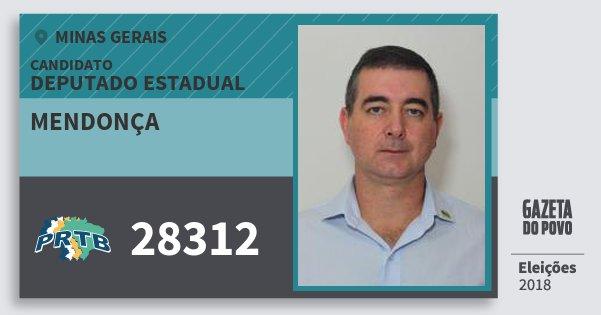 Santinho Mendonça 28312 (PRTB) Deputado Estadual | Minas Gerais | Eleições 2018