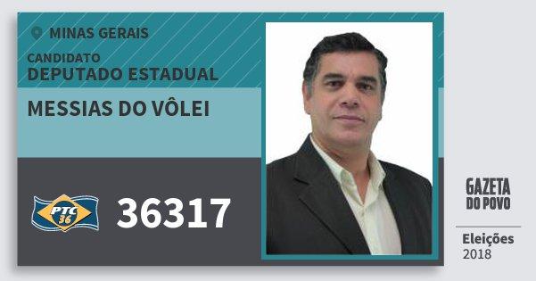Santinho Messias do Vôlei 36317 (PTC) Deputado Estadual | Minas Gerais | Eleições 2018