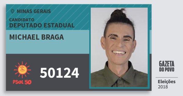 Santinho Michael Braga 50124 (PSOL) Deputado Estadual | Minas Gerais | Eleições 2018