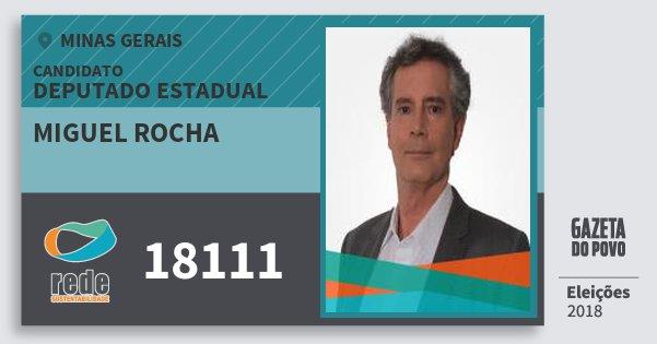 Santinho Miguel Rocha 18111 (REDE) Deputado Estadual | Minas Gerais | Eleições 2018