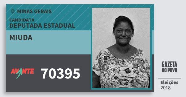 Santinho Miuda 70395 (AVANTE) Deputada Estadual | Minas Gerais | Eleições 2018