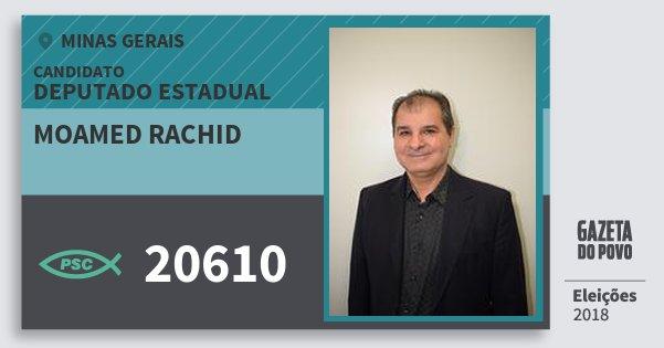 Santinho Moamed Rachid 20610 (PSC) Deputado Estadual | Minas Gerais | Eleições 2018