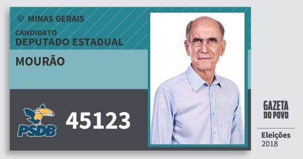 Santinho Mourão 45123 (PSDB) Deputado Estadual | Minas Gerais | Eleições 2018
