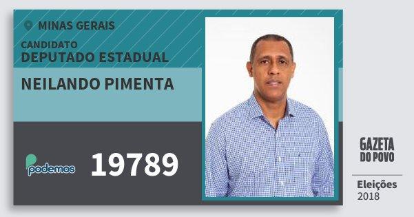 Santinho Neilando Pimenta 19789 (PODE) Deputado Estadual | Minas Gerais | Eleições 2018