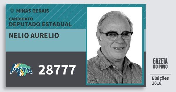 Santinho Nelio Aurelio 28777 (PRTB) Deputado Estadual | Minas Gerais | Eleições 2018