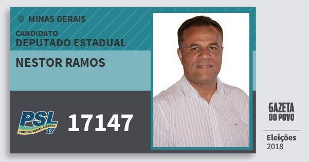 Santinho Nestor Ramos 17147 (PSL) Deputado Estadual | Minas Gerais | Eleições 2018