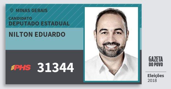 Santinho Nilton Eduardo 31344 (PHS) Deputado Estadual | Minas Gerais | Eleições 2018