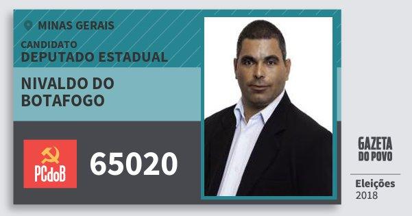 Santinho Nivaldo do Botafogo 65020 (PC do B) Deputado Estadual | Minas Gerais | Eleições 2018