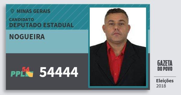 Santinho Nogueira 54444 (PPL) Deputado Estadual | Minas Gerais | Eleições 2018