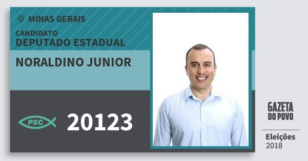 Santinho Noraldino Junior 20123 (PSC) Deputado Estadual | Minas Gerais | Eleições 2018
