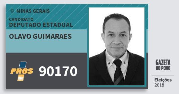 Santinho Olavo Guimaraes 90170 (PROS) Deputado Estadual | Minas Gerais | Eleições 2018