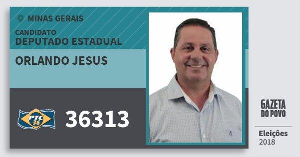 Santinho Orlando Jesus 36313 (PTC) Deputado Estadual | Minas Gerais | Eleições 2018