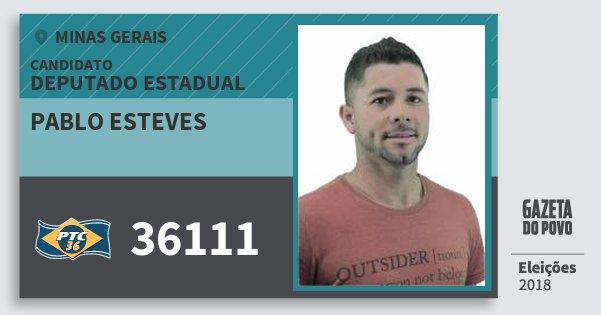 Santinho Pablo Esteves 36111 (PTC) Deputado Estadual | Minas Gerais | Eleições 2018