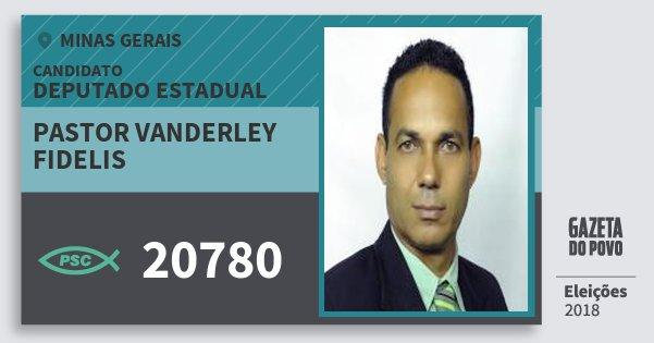 Santinho Pastor Vanderley Fidelis 20780 (PSC) Deputado Estadual   Minas  Gerais   Eleições 2018 0d85472eed