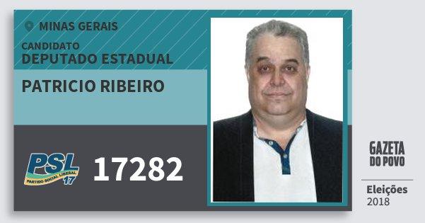 Santinho Patricio Ribeiro 17282 (PSL) Deputado Estadual | Minas Gerais | Eleições 2018