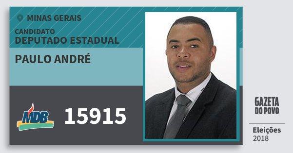 Santinho Paulo André 15915 (MDB) Deputado Estadual | Minas Gerais | Eleições 2018