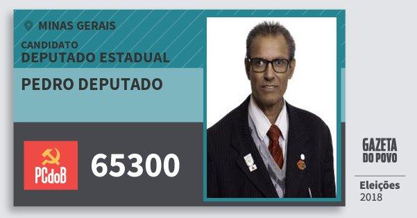 Santinho Pedro Deputado 65300 (PC do B) Deputado Estadual | Minas Gerais | Eleições 2018