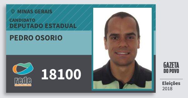Santinho Pedro Osorio 18100 (REDE) Deputado Estadual | Minas Gerais | Eleições 2018