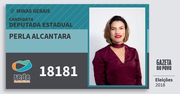Santinho Perla Alcantara 18181 (REDE) Deputada Estadual | Minas Gerais | Eleições 2018
