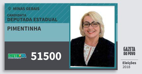 Santinho Pimentinha 51500 (PATRI) Deputada Estadual | Minas Gerais | Eleições 2018
