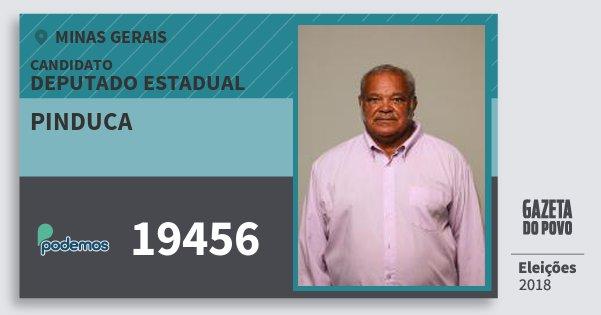 Santinho Pinduca 19456 (PODE) Deputado Estadual | Minas Gerais | Eleições 2018