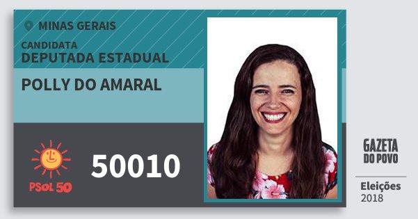 Santinho Polly do Amaral 50010 (PSOL) Deputada Estadual | Minas Gerais | Eleições 2018