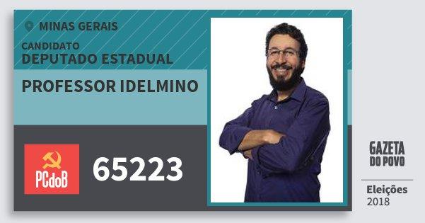 Santinho Professor Idelmino 65223 (PC do B) Deputado Estadual | Minas Gerais | Eleições 2018