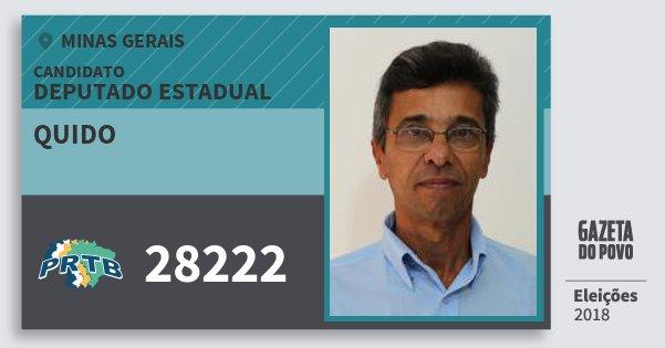 Santinho Quido 28222 (PRTB) Deputado Estadual | Minas Gerais | Eleições 2018
