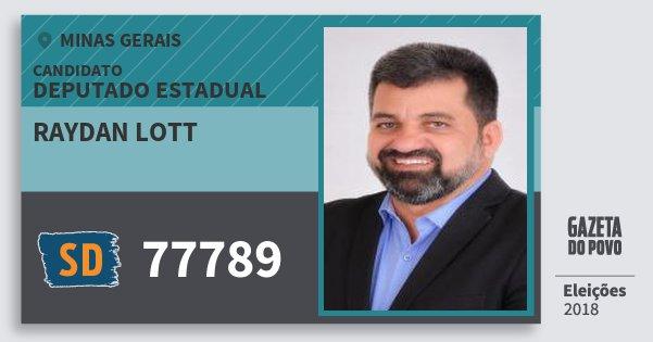 Santinho Raydan Lott 77789 (SOLIDARIEDADE) Deputado Estadual | Minas Gerais | Eleições 2018
