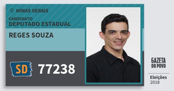 Santinho Reges Souza 77238 (SOLIDARIEDADE) Deputado Estadual | Minas Gerais | Eleições 2018