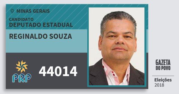 Santinho Reginaldo Souza 44014 (PRP) Deputado Estadual | Minas Gerais | Eleições 2018