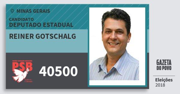 Santinho Reiner Gotschalg 40500 (PSB) Deputado Estadual   Minas Gerais   Eleições 2018