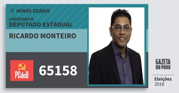 Santinho Ricardo Monteiro 65158 (PC do B) Deputado Estadual | Minas Gerais | Eleições 2018