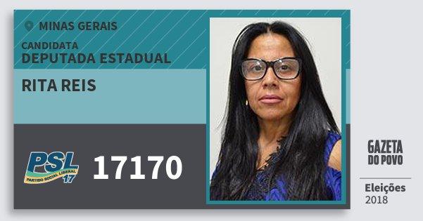 Santinho Rita Reis 17170 (PSL) Deputada Estadual | Minas Gerais | Eleições 2018