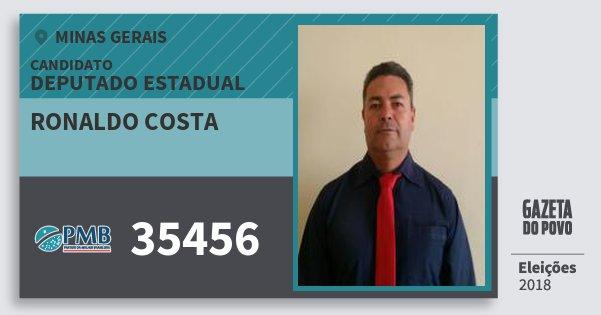 Santinho Ronaldo Costa 35456 (PMB) Deputado Estadual   Minas Gerais   Eleições 2018