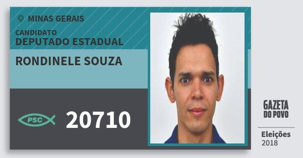 Santinho Rondinele Souza 20710 (PSC) Deputado Estadual | Minas Gerais | Eleições 2018