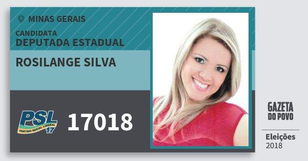 Santinho Rosilange Silva 17018 (PSL) Deputada Estadual | Minas Gerais | Eleições 2018