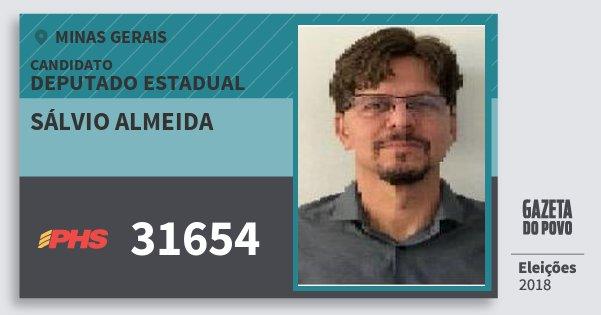 Santinho Sálvio Almeida 31654 (PHS) Deputado Estadual | Minas Gerais | Eleições 2018