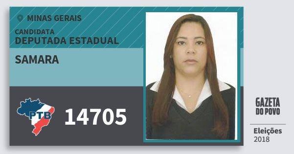 Santinho Samara 14705 (PTB) Deputada Estadual   Minas Gerais   Eleições 2018