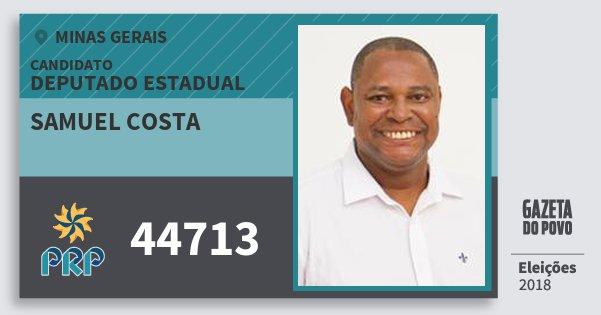 Santinho Samuel Costa 44713 (PRP) Deputado Estadual   Minas Gerais   Eleições 2018